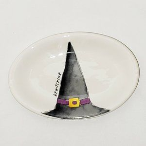 "Rae Dunn Halloween Witch ""Bewitching"" Oval Plate"